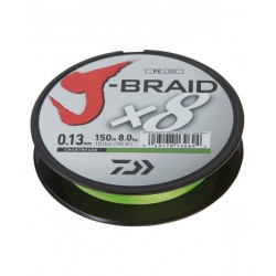 Daiwa J-Braid X8 150m 0,13mm/8,1kg - Chartreuse