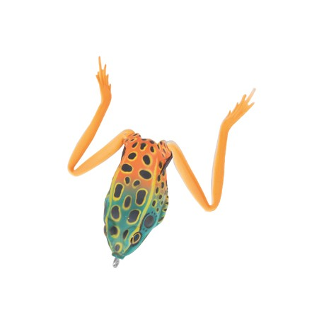 Real Frog Groda 5,5 cm - Grön/Orange