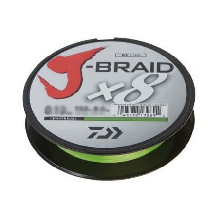 Daiwa J-Braid X8 150m 0,28mm/26,3kg - Chartreuse
