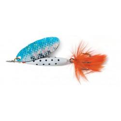 ABU Reflex White Spinnare 18g - S/Blue Flash