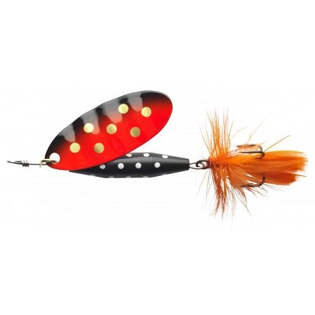 ABU Reflex Black Spinnare 7g - Orange Gold dot