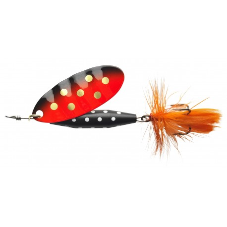 ABU Reflex Black Spinnare 12g - Orange Gold dot