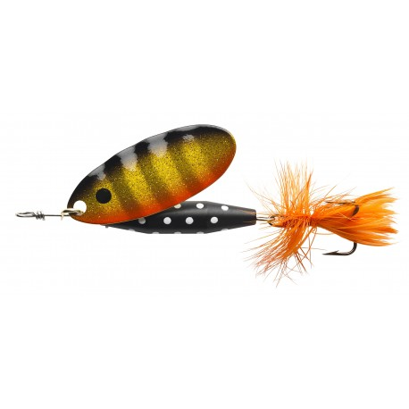 ABU Reflex Black Spinnare 18g - Black Gold Orange