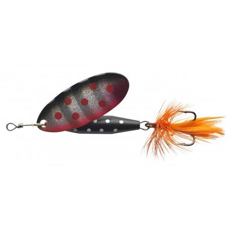 ABU Reflex Black Spinnare 18g - Silver Red dot