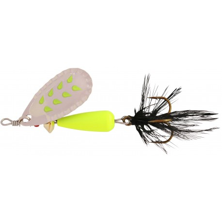 Abu Droppen Fluo Chartreuse Spinnare 12g - Silver