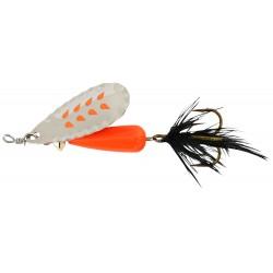 Abu Droppen Fluo Orange Spinnare 8g - Silver