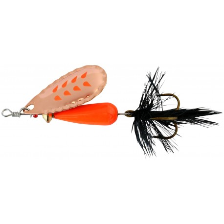 Abu Droppen Fluo Orange Spinnare 8g - Copper