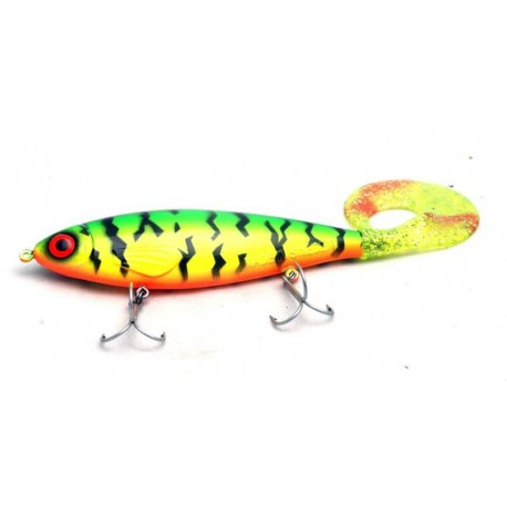 JW Lures Backlip Curly - Firetiger