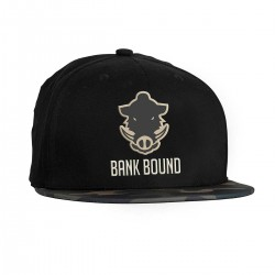 Prologic Bank Bound Flat Bill Cap - Black/Camo