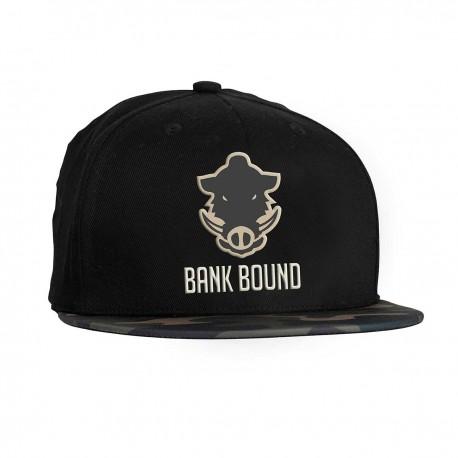 Prologic Bank Bound Flat Bill Cap - Black/Camo