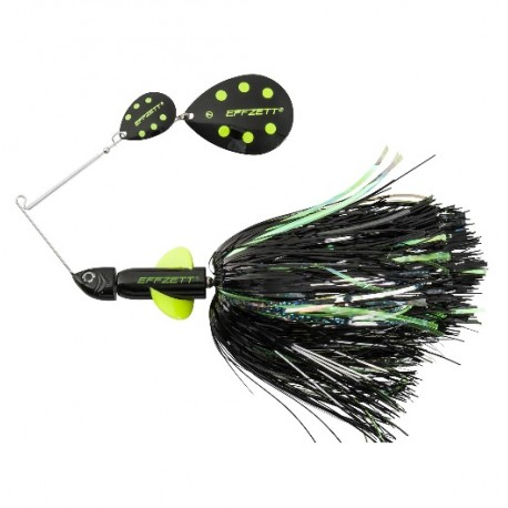 EFFZETT Pike Rattlin Spinnerbait 17cm 43g - Black demon