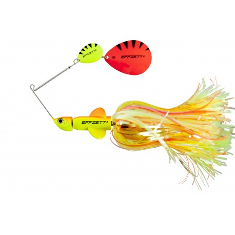 EFFZETT Pike Rattlin Spinnerbait 17cm 43g - Fluo Yellow/Orange