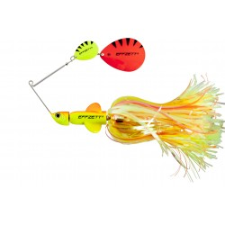 EFFZETT Pike Rattlin Spinnerbait 20cm 56g - Flou Yellow/Orange