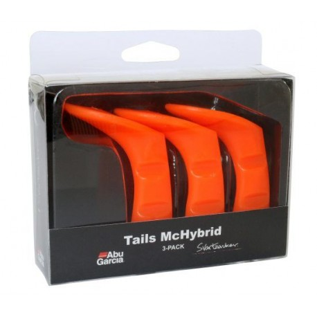 McHbyrid extra tail 3-pack - fluorescerande röd