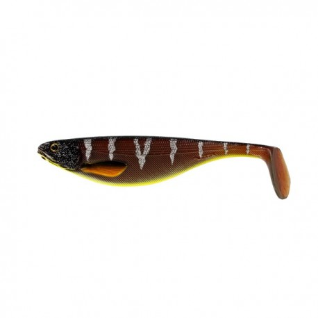 Westin Shad Teez 9 cm - Motoroil Orange Perch