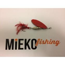 Mieko Kobra Spinnare 10 gr - Silver/Blod Röd