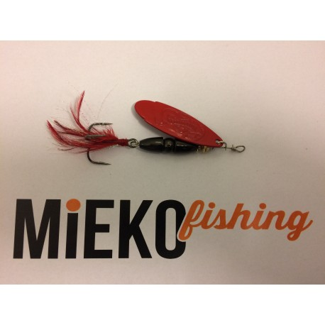Mieko Kobra Spinnare 10 gr - Svart/Blod Röd