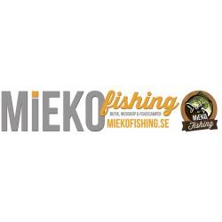 Mieko båtdekal på transparent tejp