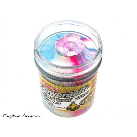 Powerbait Natural Scent Glitter Garlic - Captain America