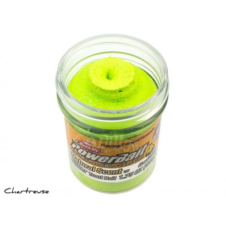 Powerbait Natural Scent Glitter Garlic - Charteuse
