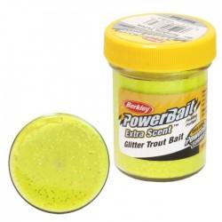 Powerbait Natural Scent Glitter Garlic - Sunshine Yellow