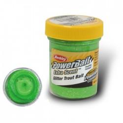 Powerbait Natural Scent Glitter Garlic - Spring Green