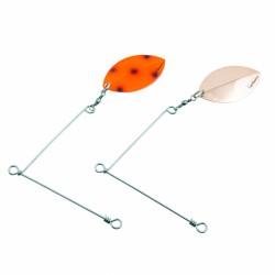 SvartZonker Spinner Rig Large - Copper/Fluo Red Bandit (2-pack)