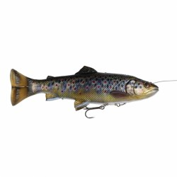 SG 4D Line Thru Pulsetail Trout 16cm SS - Brown Trout