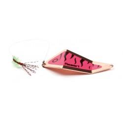 Asseri Rödingblänke med fluga 65 mm - Koppar/Rosa