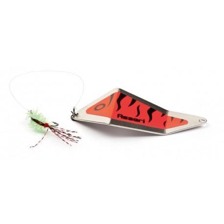 Asseri Rödingblänke med fluga 65 mm - Silver/Röd