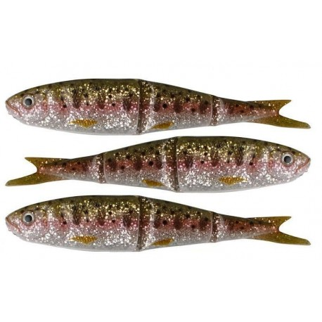 Savage Gear Soft 4-play 13 cm, Rainbow Smolt, 3-pack