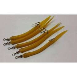Sölvkroken Gummimakk gul 8/0 i 5-pack