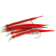 Sölvkroken Gummimakk röd 8/0 i 5-pack