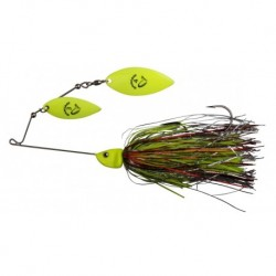 Spinnerbait Savagear Da Bush 3, Yellow Silver Holo Flame
