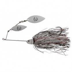 Spinnerbait Savagear Da Bush 4, White Silver Holo Flame