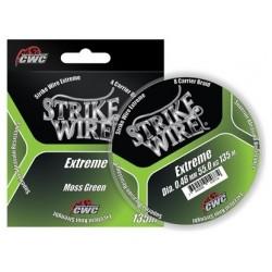 Spunnen fiskelina Strike Wire Extreme mossgrön, 135 m, 0,15 mm