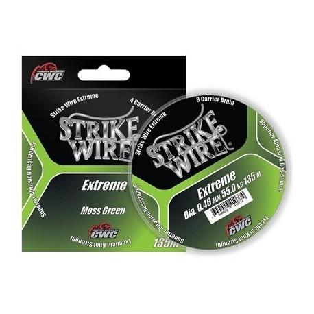Spunnen fiskelina Strike Wire Extreme mossgrön, 135 m, 0,19 mm