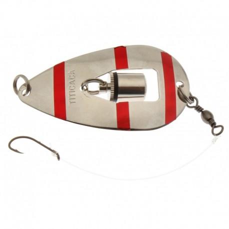 Titicaca Nova blinkpirk 68 mm, Silver/röd