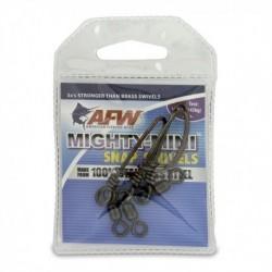 Beteslås med lekande, AFW Mighty-Mini Snap Swiwels, 145 kg