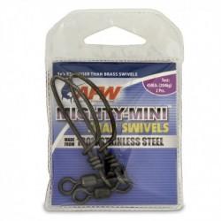 Beteslås med lekande, AFW Mighty-Mini Snap Swiwels, 204 kg