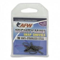 Beteslås med lekande, AFW Mighty-Mini Snap Swiwels, 32 kg