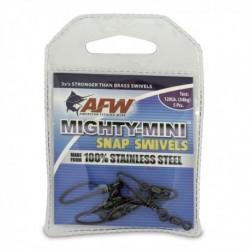 Beteslås med lekande, AFW Mighty-Mini Snap Swiwels, 54 kg