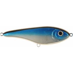 Buster Jerk Shallow Runner 15 cm - Blue Chrome