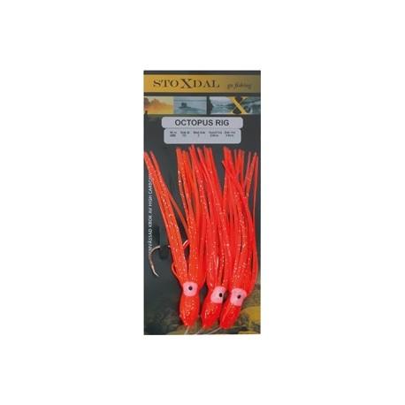 Upphängare Bläckfisk 7/0 - Orange Glitter