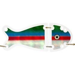 VK-Salmon 2 Flasher 16 cm - Clear/Coho Blue