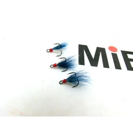 DAM Sumo dressed treble hooks, storl 8, blå/vit