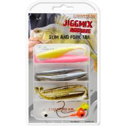 Darts Jiggmix Abborre - Slim- & Fork Tail