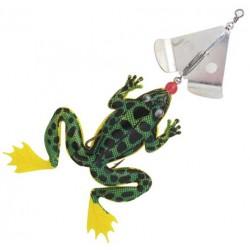 Fladen Spinning Frog 13 cm - Limegreen/Black