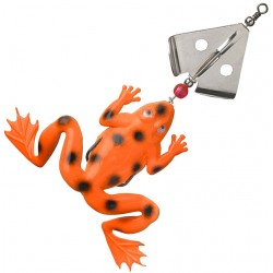 Fladen Spinning Frog 13 cm - Hot Orange