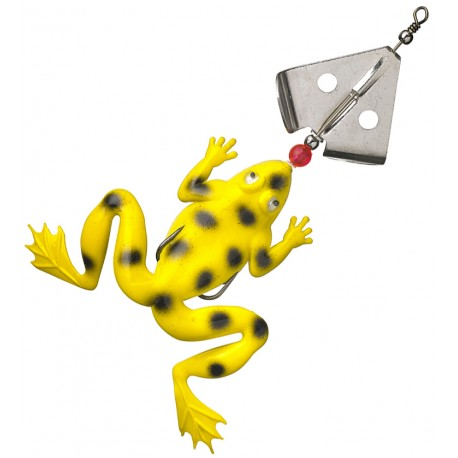 Fladen Spinning Frog 13 cm - Hot Yellow